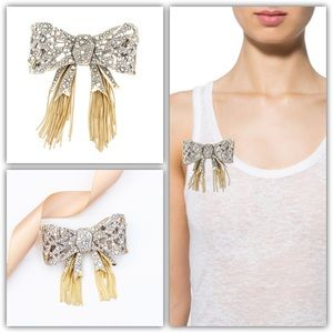 Alexis Bittar Mosaic Lace Bow Brooch Pin